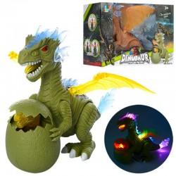 Игрушка динозавр с яйцом и динозавриком