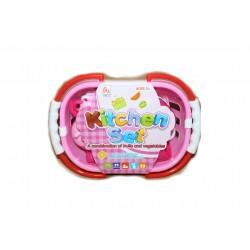 Набор посудка детская в корзинке