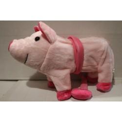 Свинка музыкальная на поводке