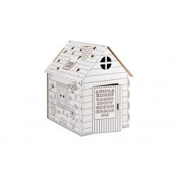 """Домик из картона """"Дом-раскраска"""""""