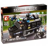 "Конструктор ""Sembo Block"" Бронеавтомобиль спецназа SWAT."