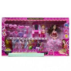 набор куклы с платьями